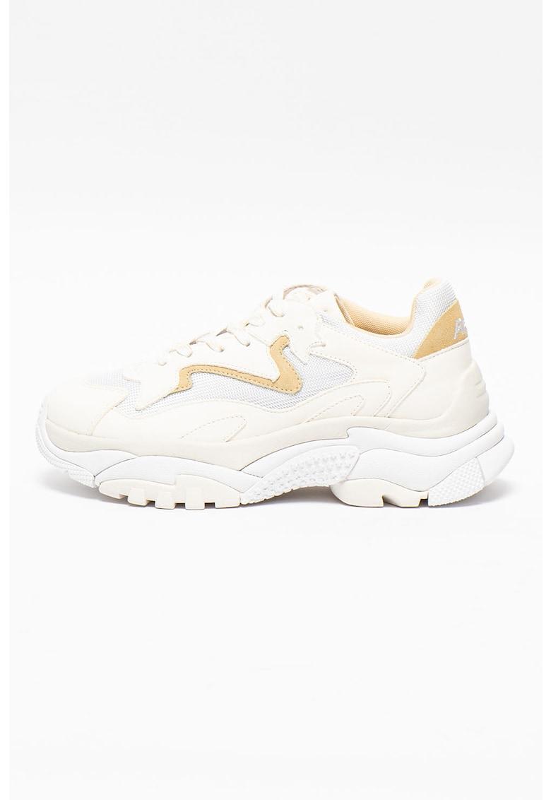 Pantofi sport din piele cu insertii din plasa Addict