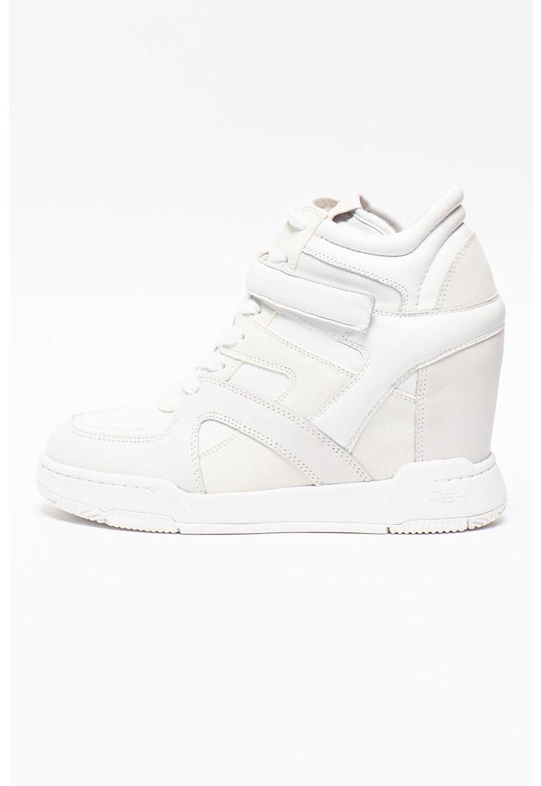 Pantofi sport din piele cu talpa wedge ascunsa Body