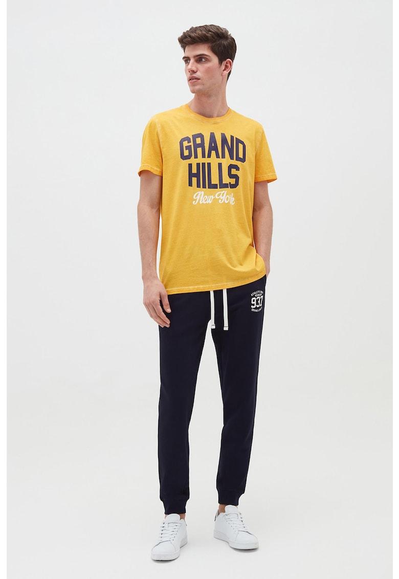 Pantaloni sport din bumbac organic cu snur de ajustare in talie imagine