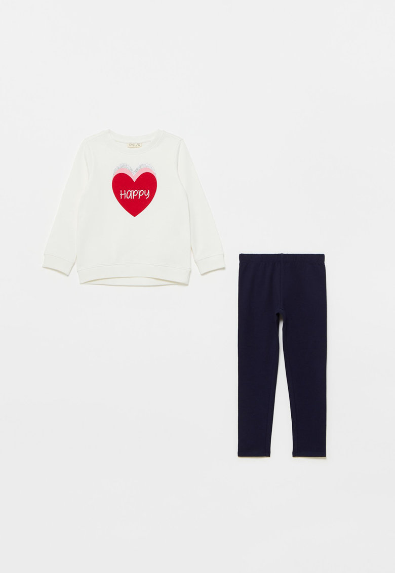 Set de bluza sport si colanti cu imprimeu - 2 piese poza fashiondays