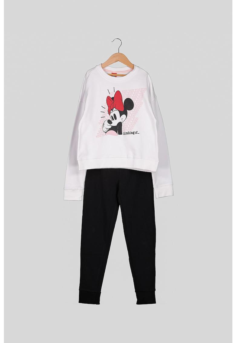 Costum sport din bumbac cu imprimeu Minnie Mouse imagine fashiondays.ro OVS
