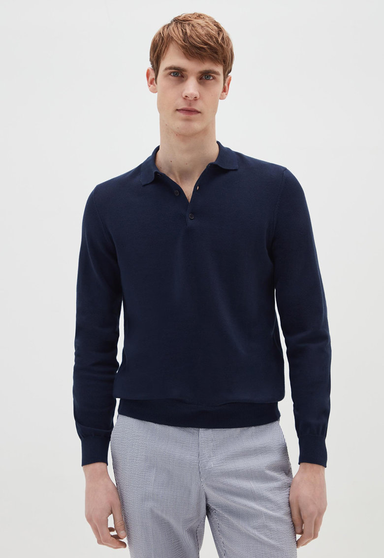 Bluza polo de bumbac
