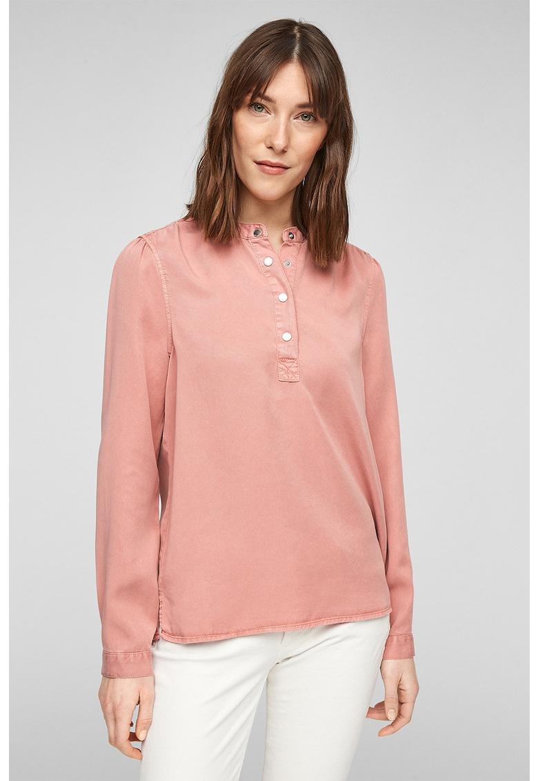 Bluza din lyocell cu fenta cu nasturi s.Oliver fashiondays.ro