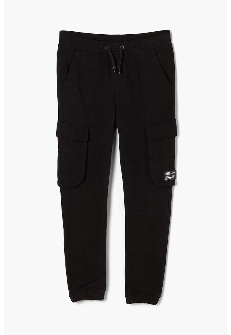 Pantaloni cargo slim fit cu snur in talie imagine