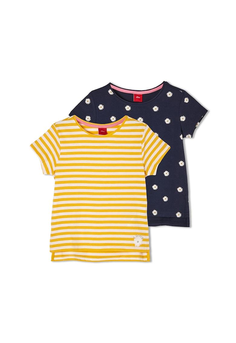 Set de tricouri cu model - 2 piese imagine fashiondays.ro