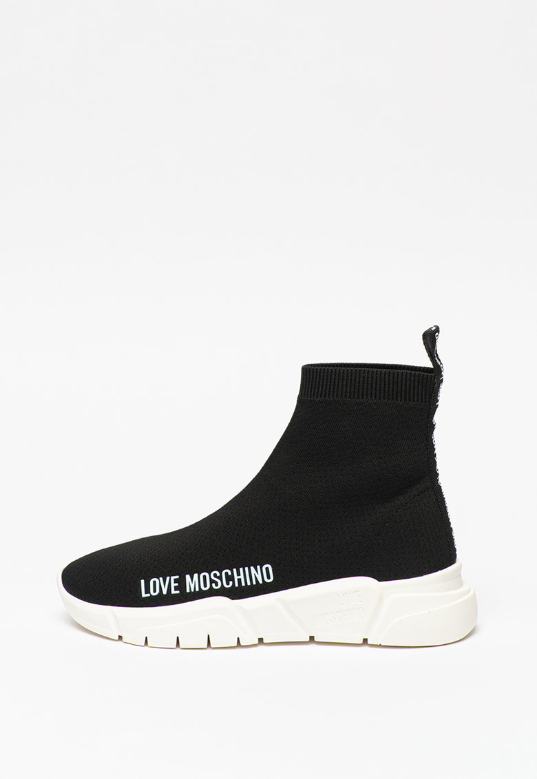 Pantofi sport inalti cu terminatie tip soseta Love Moschino fashiondays.ro