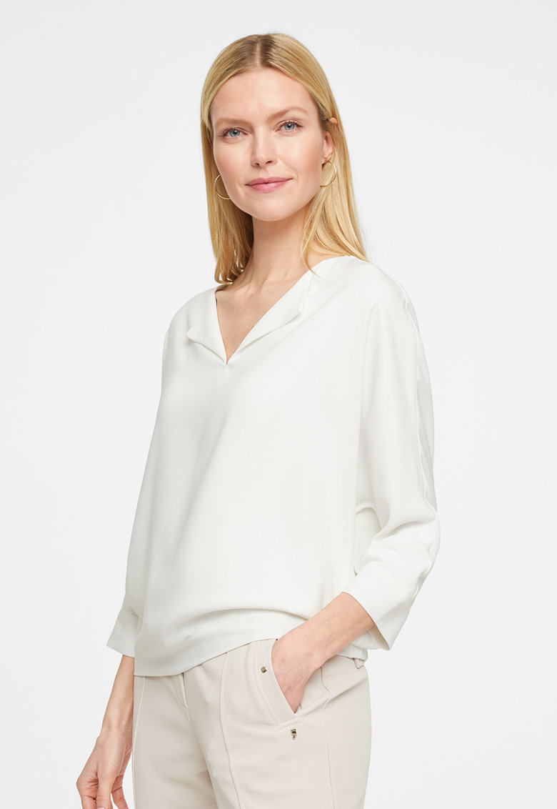 Bluza vaporoasa cu maneci 3/4 imagine fashiondays.ro comma,,