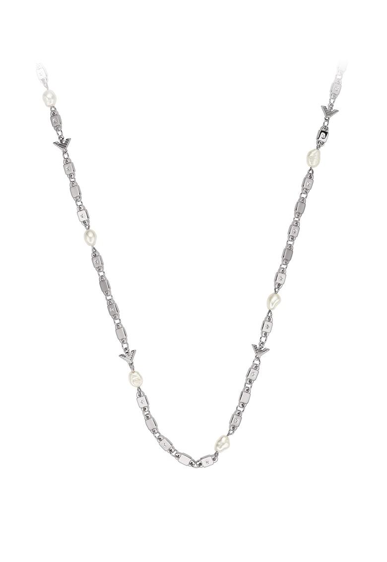 Colier de argint cu perle