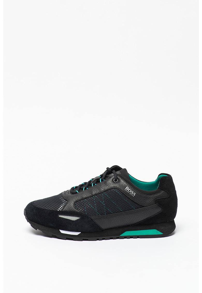 Pantofi sport cu garnituri de piele intoarsa si piele Parkour imagine