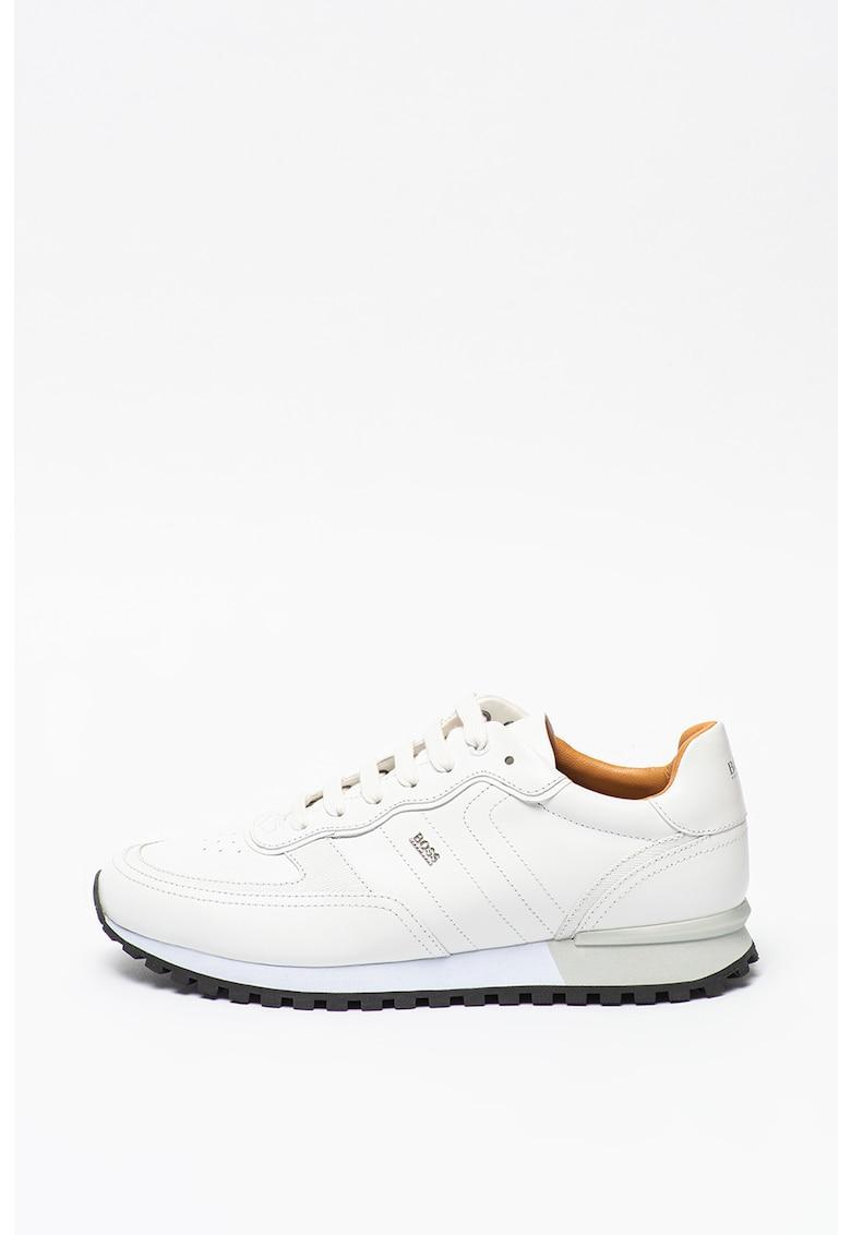 Pantofi sport de piele cu logo discret Parkour imagine