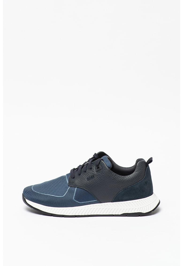 HUGO Pantofi sport low-top Titanium imagine