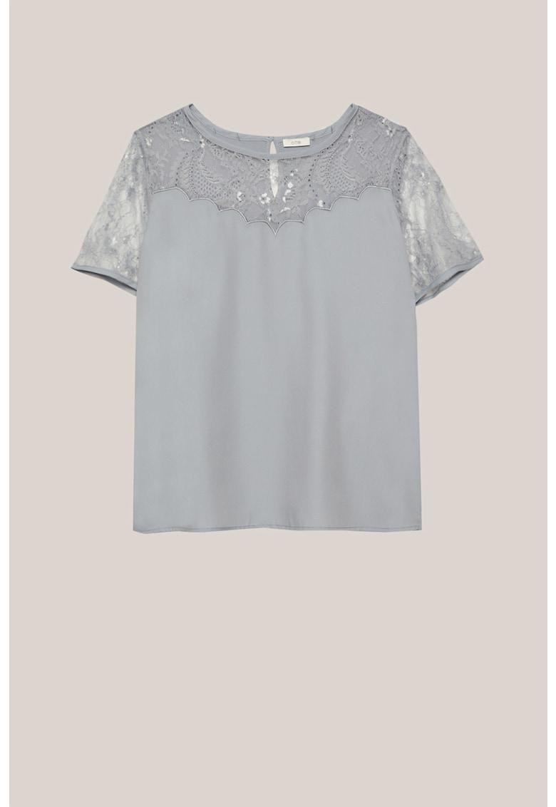 Bluza din amestec de modal cu insertii de dantela imagine fashiondays.ro Oltre
