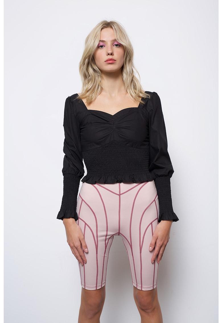 Bluza crop cu decolteu sweetheart Ariana imagine fashiondays.ro AMYLYNN