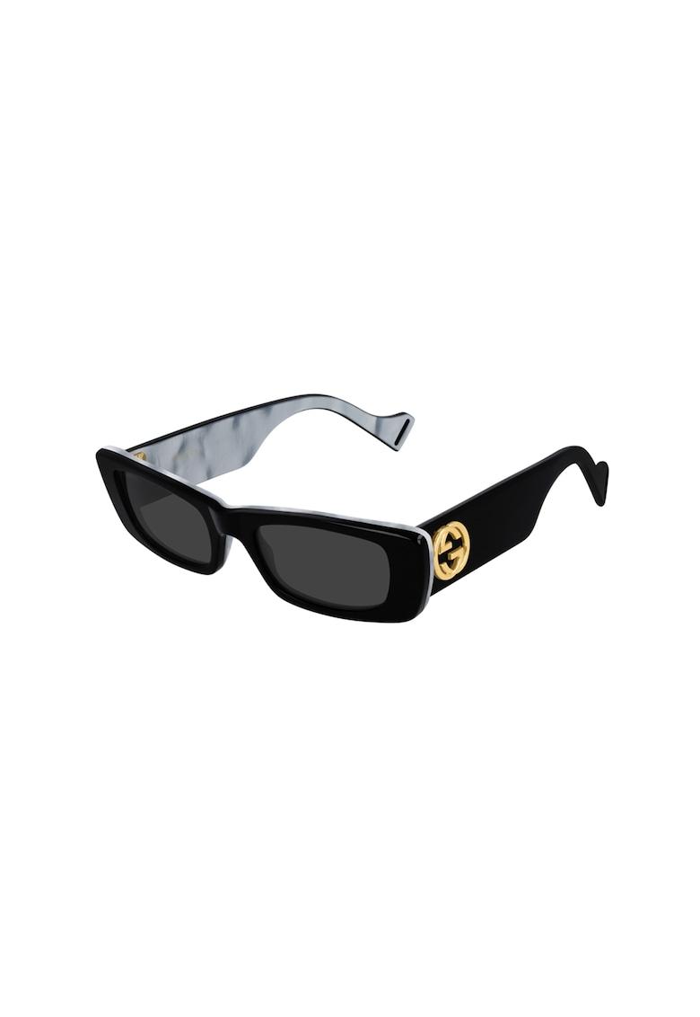 Ochelari de soare dreptunghiulari Gucci fashiondays.ro