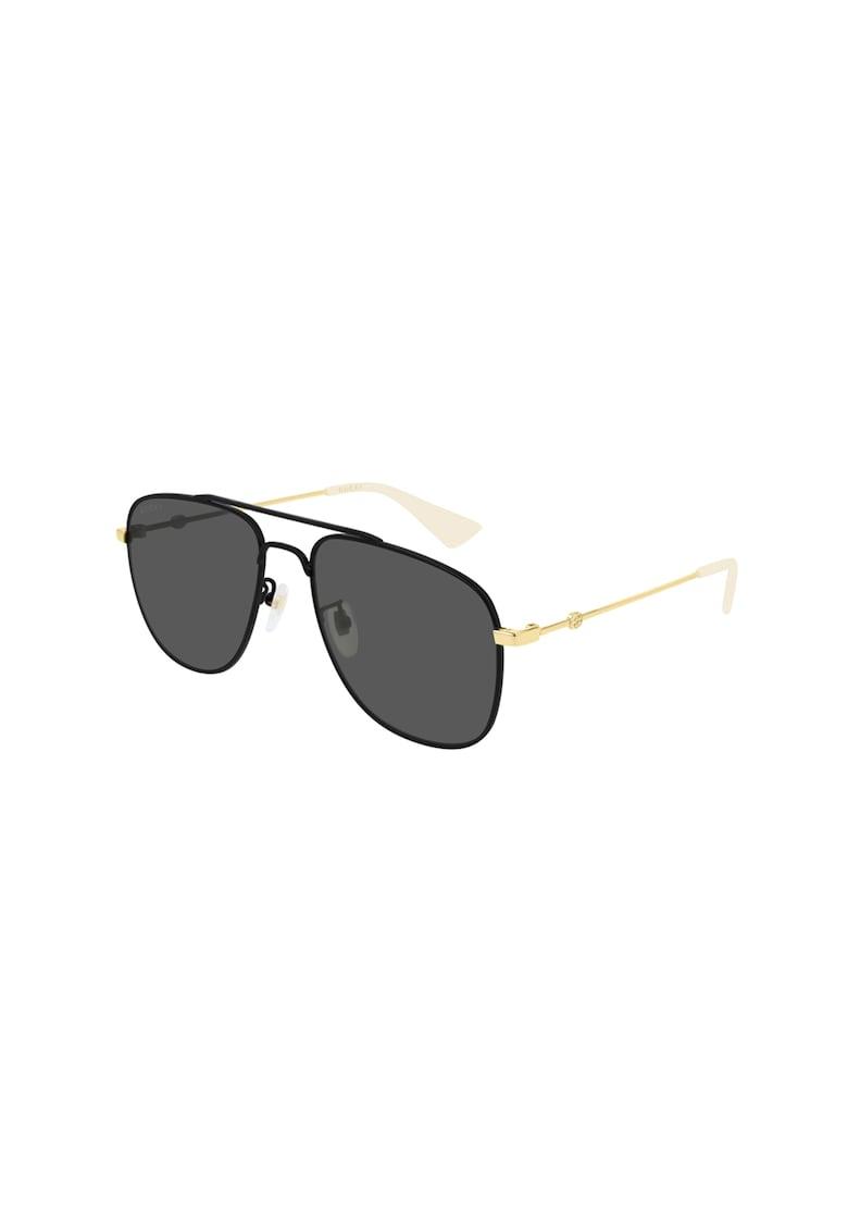 Ochelari de soare aviator cu lentile cu culoare uniforma imagine fashiondays.ro Gucci