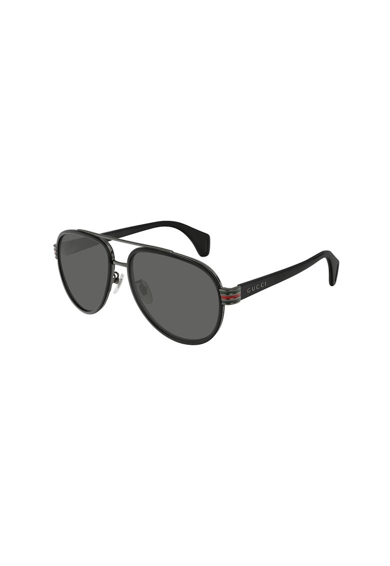 Ochelari de soare aviator polarizati imagine fashiondays.ro Gucci