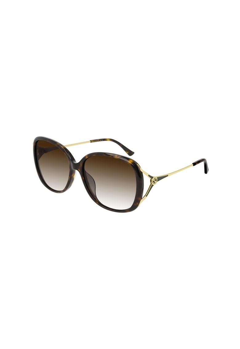 Ochelari de soare patrati cu lentile in degrade imagine fashiondays.ro Gucci