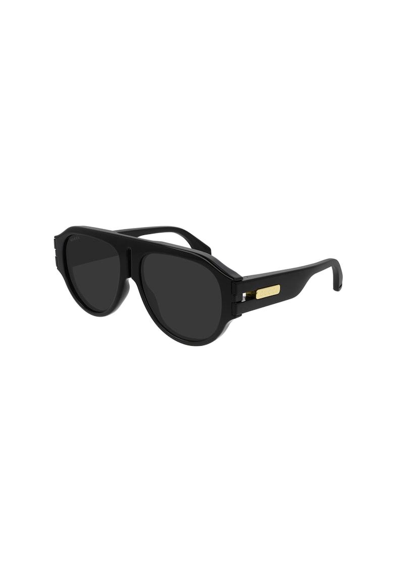 Ochelari de soare patrati cu lentile uni imagine fashiondays.ro Gucci