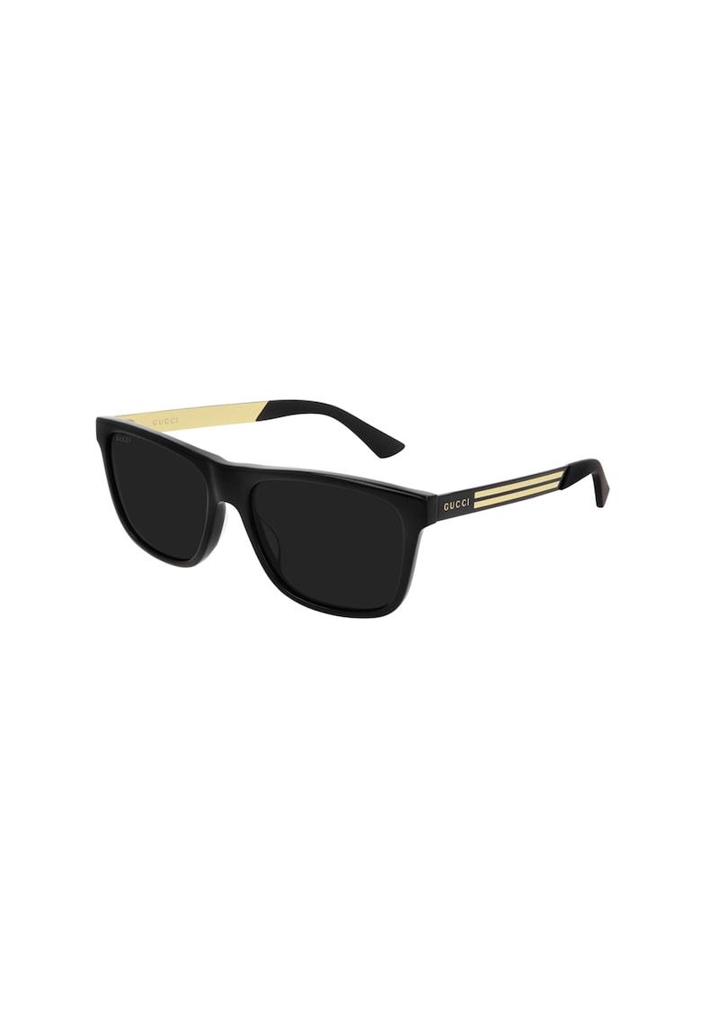Ochelari de soare polarizati cu rame cu model in dungi imagine fashiondays.ro Gucci