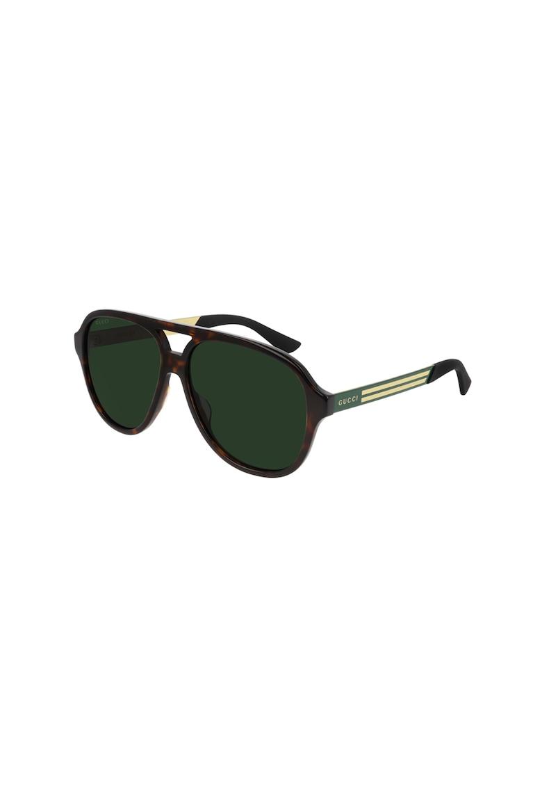 Ochelari de soare aviator cu lentile uni imagine fashiondays.ro Gucci
