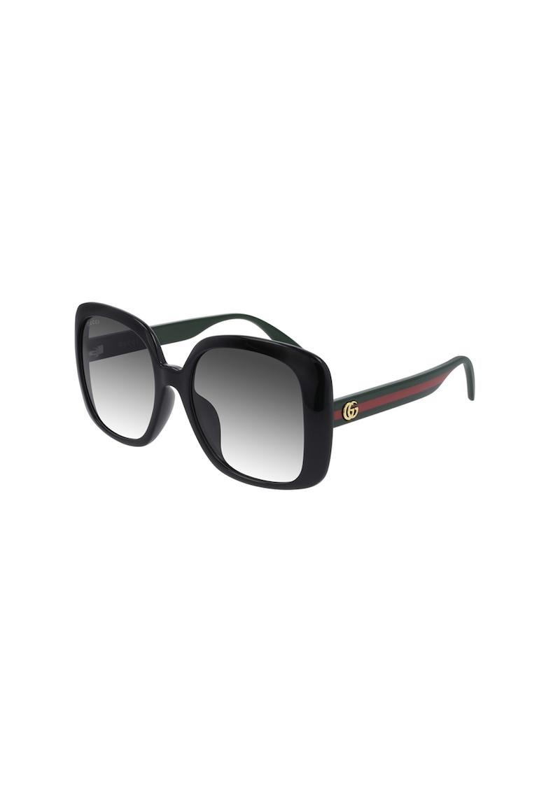 Ochelari de soare patrati cu logo imagine fashiondays.ro Gucci