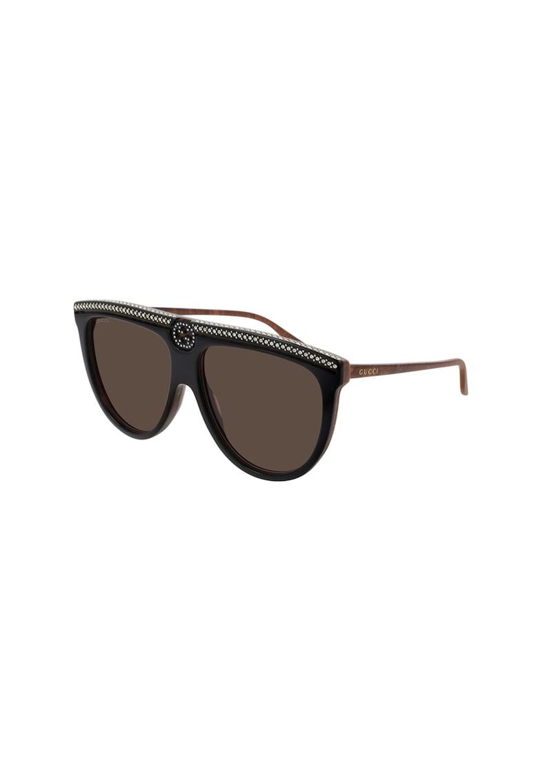 Ochelari de soare wrap cu detalii aplicate imagine fashiondays.ro Gucci