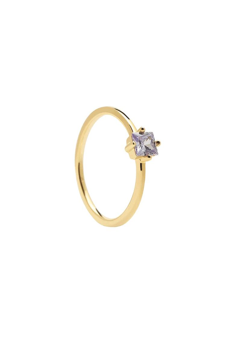 Inel placat cu aur de 18K decorat cu zirconia patrata imagine fashiondays.ro