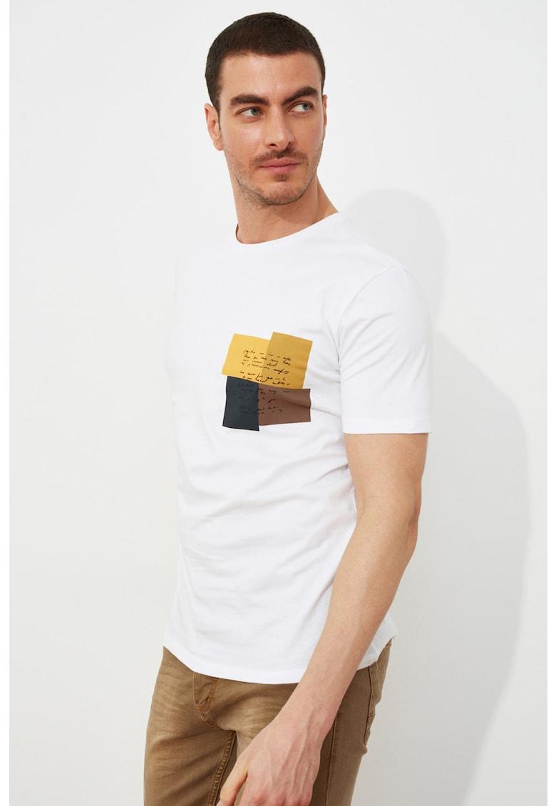 Tricou din bumbac cu imprimeu pe piept