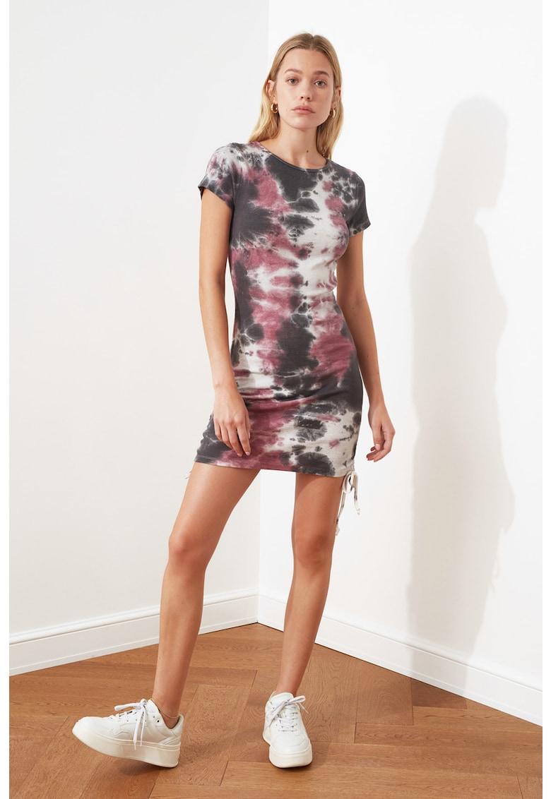 Rochie mini cu aspect tie-dye imagine