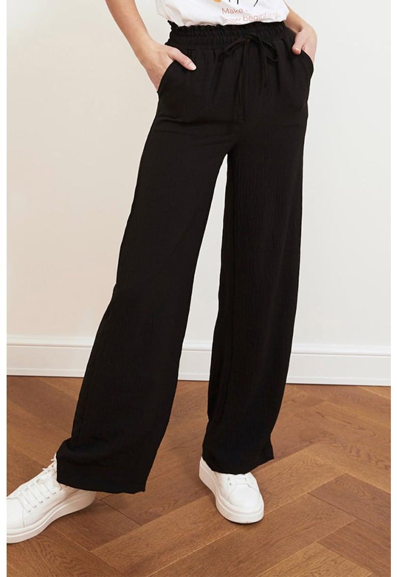 Pantaloni ampli cu talie inalta imagine
