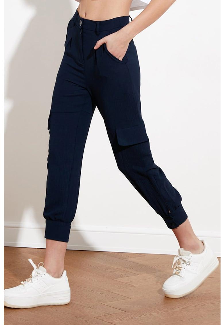 Pantaloni crop cu buzunare imagine