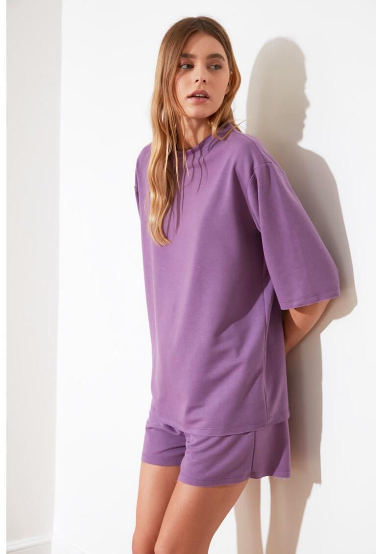 Pijama scurta cu maneci cazute imagine