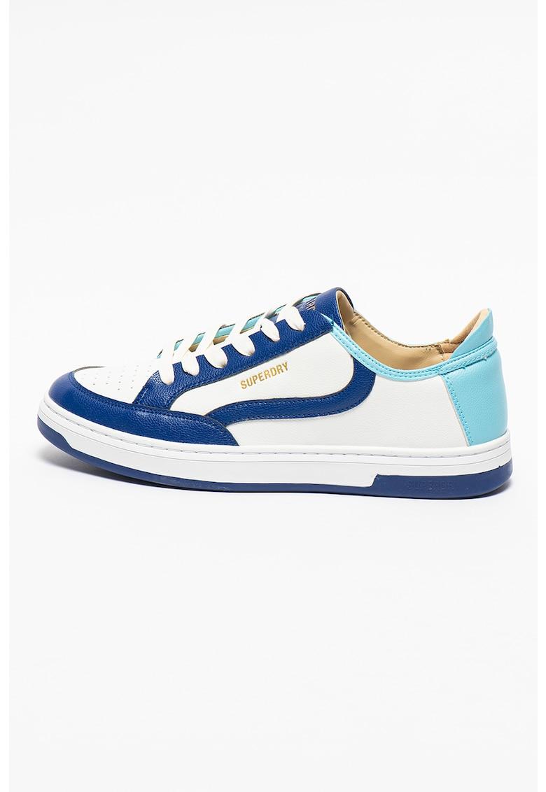 Pantofi sport din piele ecologica cu model colorblock Basket Lux