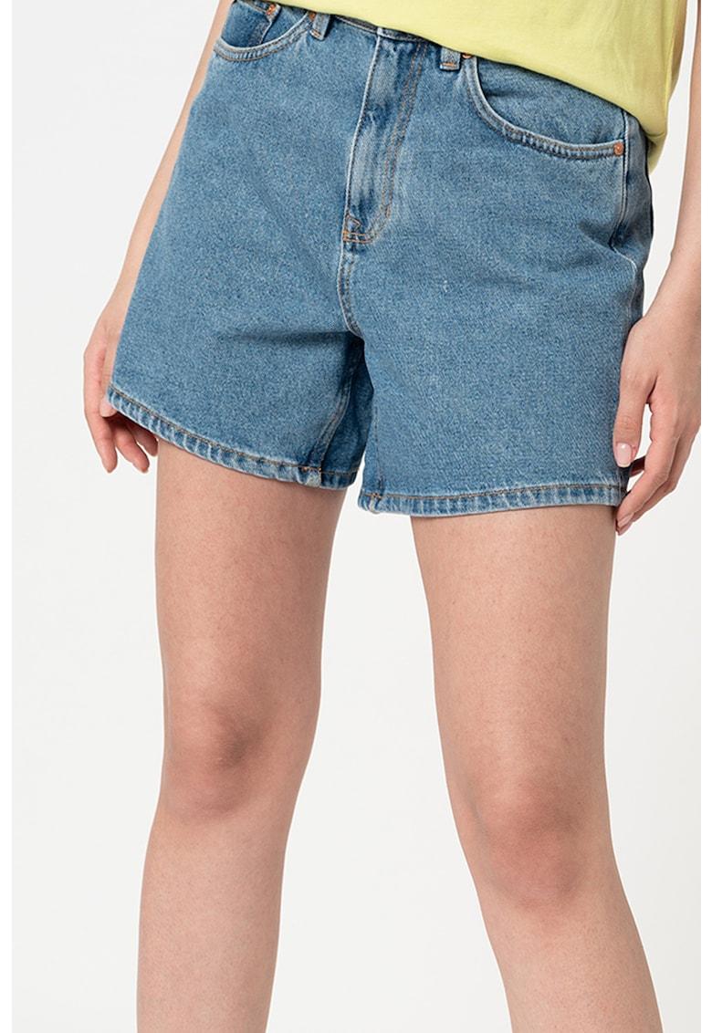Pantaloni scurti de denim mom-fit