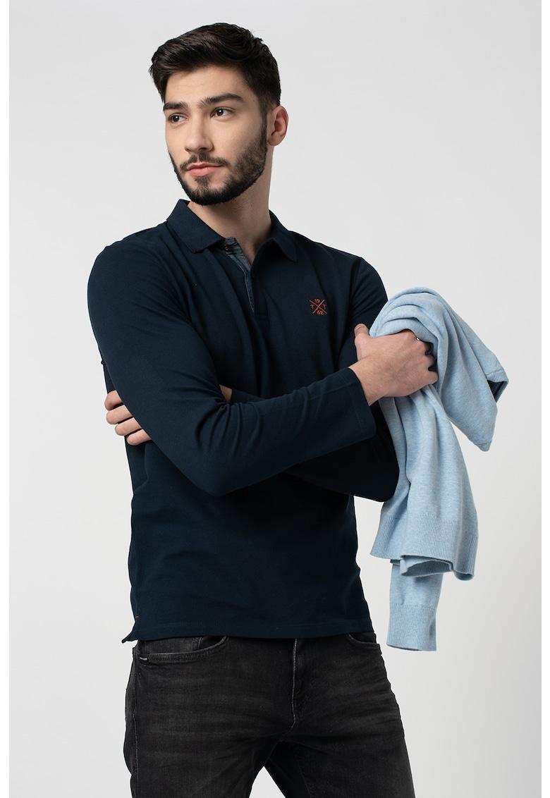 Bluza polo cu detaliu logo imagine fashiondays.ro