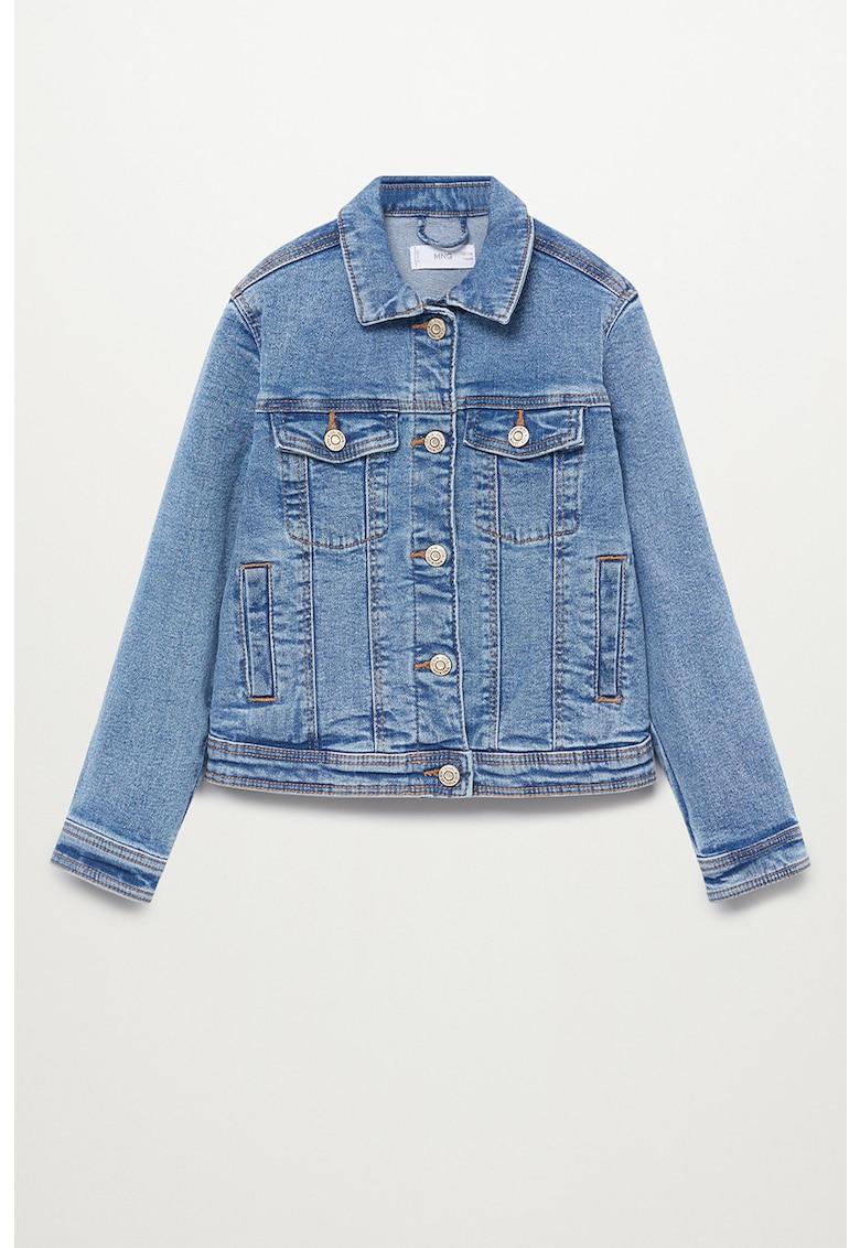 Jacheta din denim cu buzunare pe piept Allegra 87043631 imagine