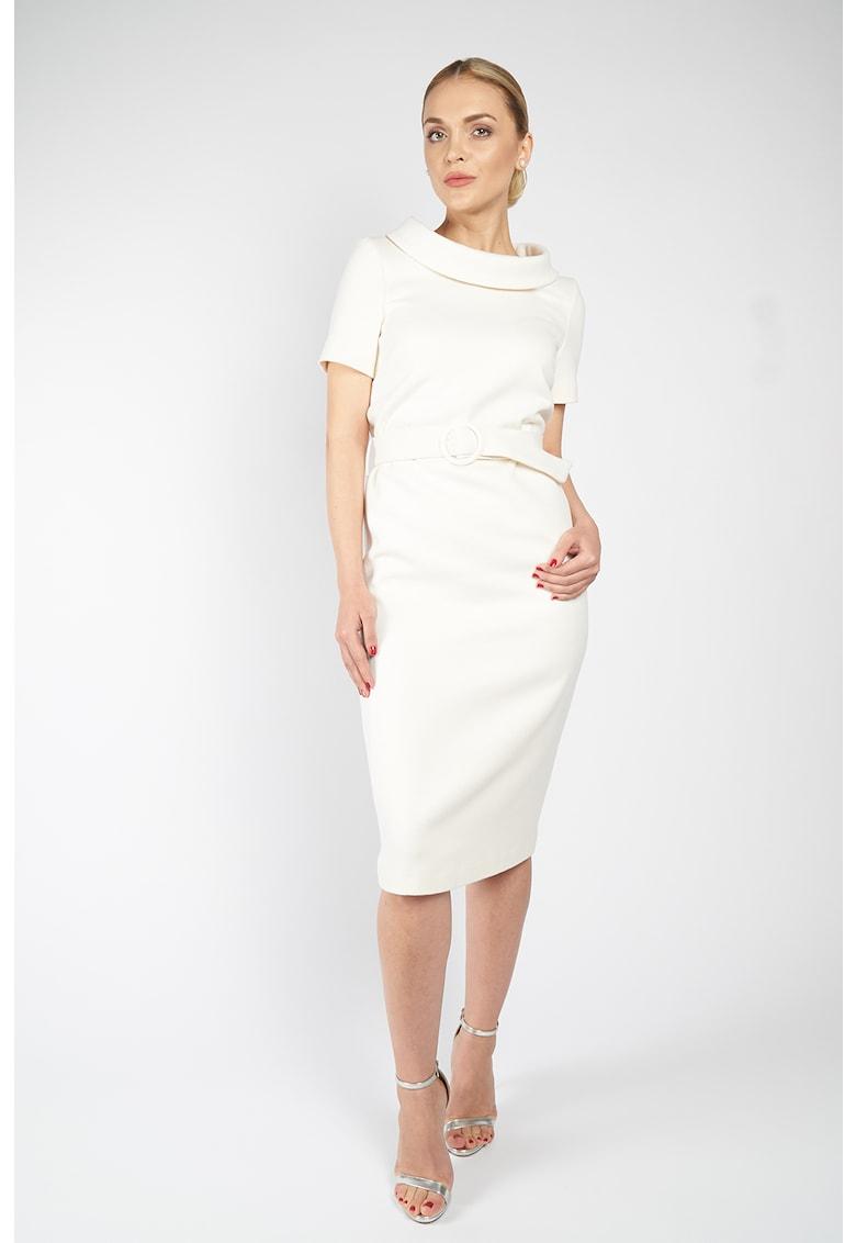 Rochie din lana cu o curea de la Acob a porter