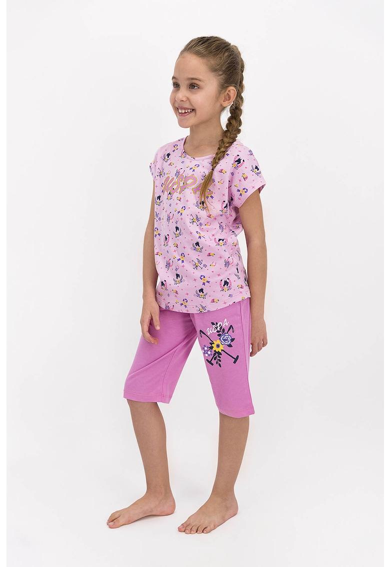 Pijama cu model grafic si logo imagine fashiondays.ro 2021