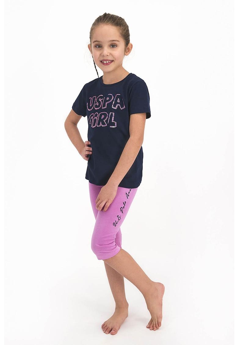 Pijama cu imprimeu text imagine fashiondays.ro 2021