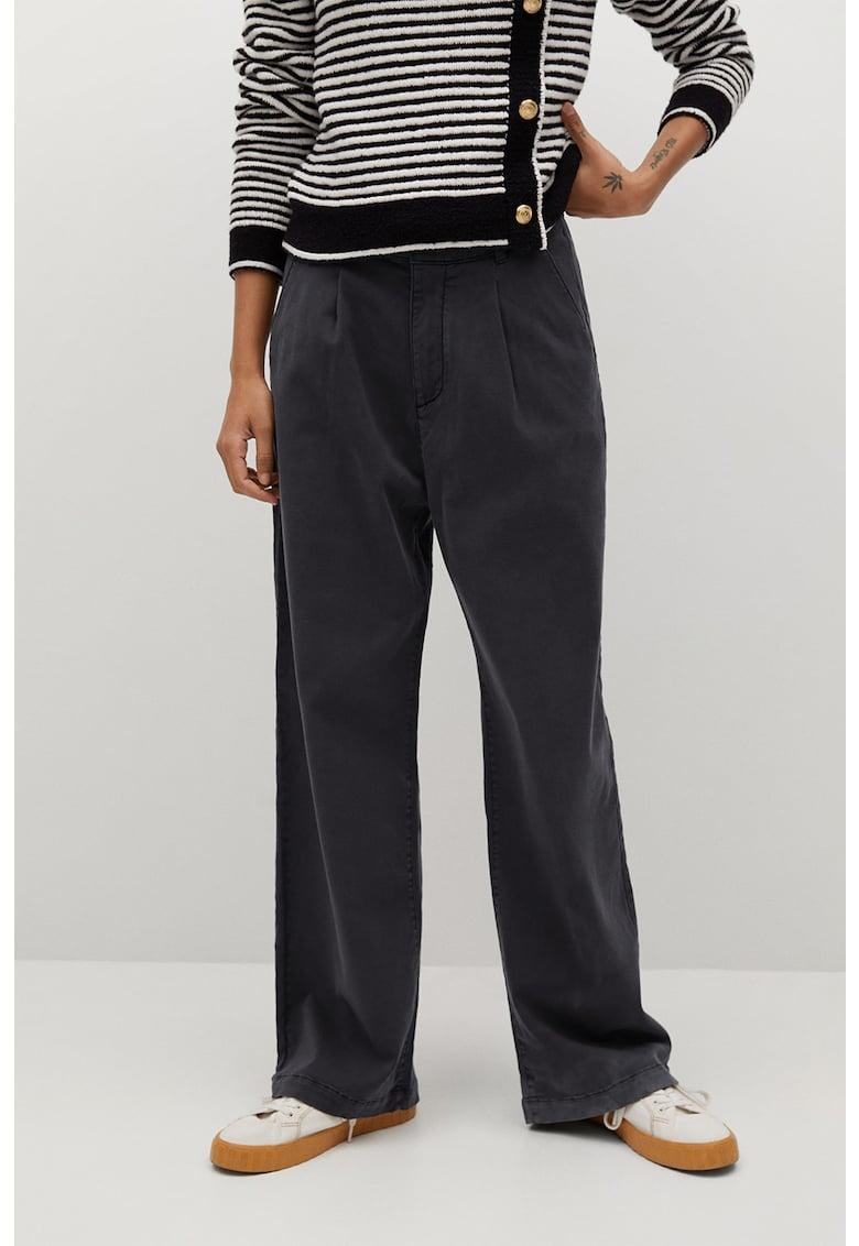Pantaloni cu croiala dreapta si talie inalta Filippo imagine