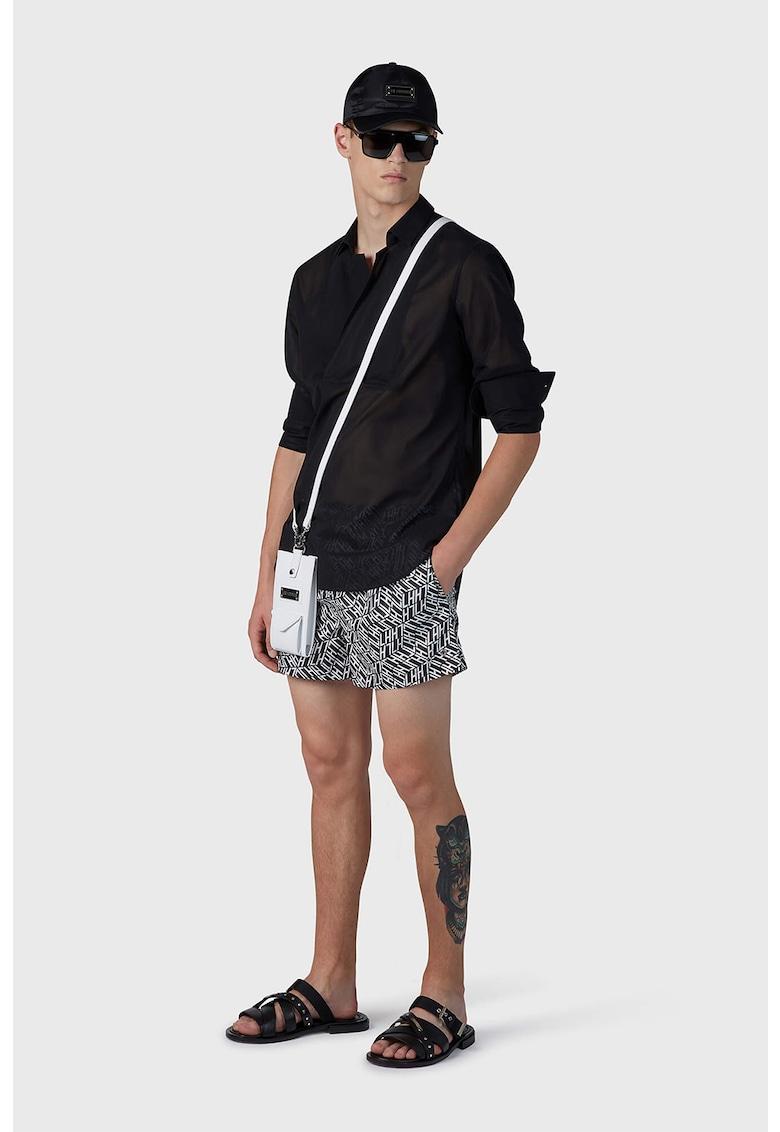Pantaloni scurti de baie cu imprimeu cu monograma imagine