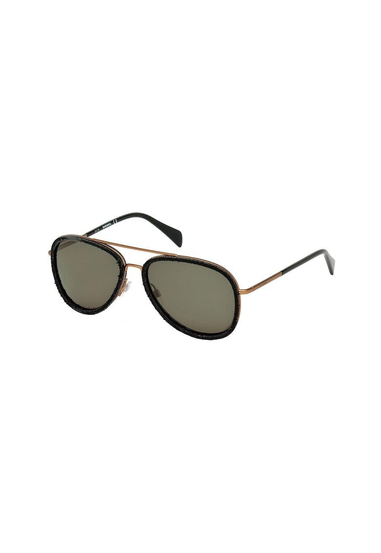 Ochelari de soare unisex cu rame metalice imagine fashiondays.ro Diesel