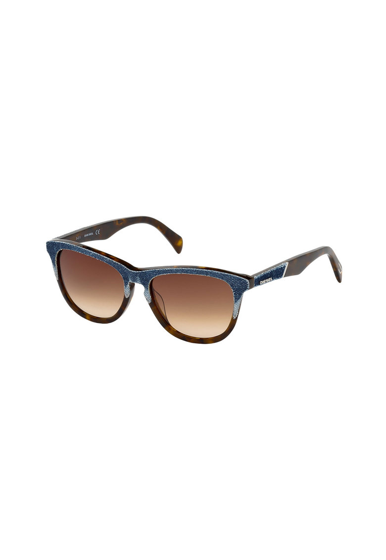 Ochelari de soare unisex cu rame cu material textil imagine fashiondays.ro Diesel