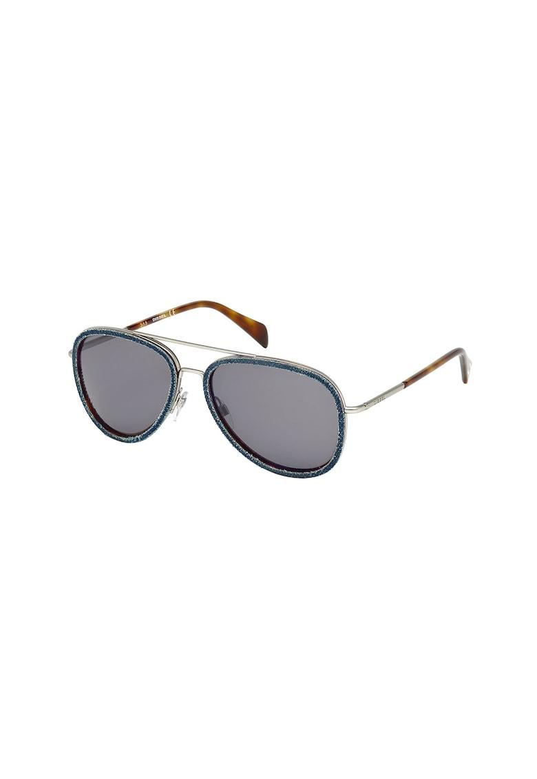Ochelari de soare unisex cu rama metalica imagine fashiondays.ro Diesel