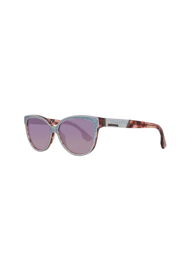 Ochelari de soare cat-eye cu aplicatii din denim imagine fashiondays.ro Diesel