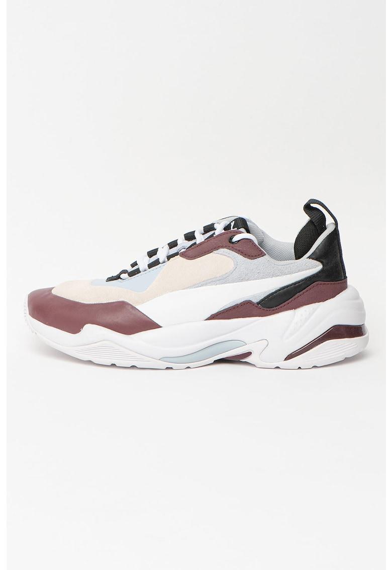 Pantofi sport cu insertii din piele intoarsa Thunder
