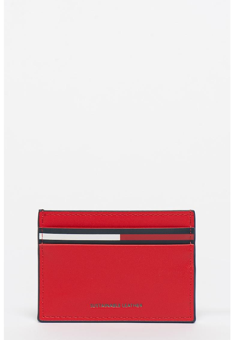 Portcart cu garnituri de piele reciclata Essential imagine fashiondays.ro Tommy Jeans