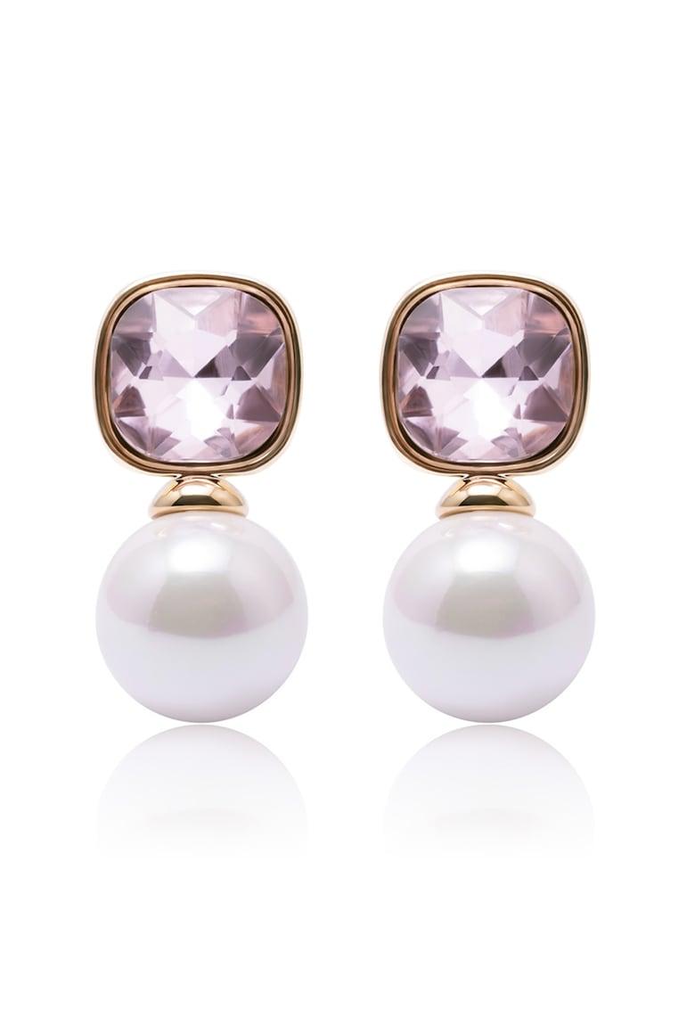 Annie Rosewood Cercei placati cu aur - decorati cu cristale si perle sintetice