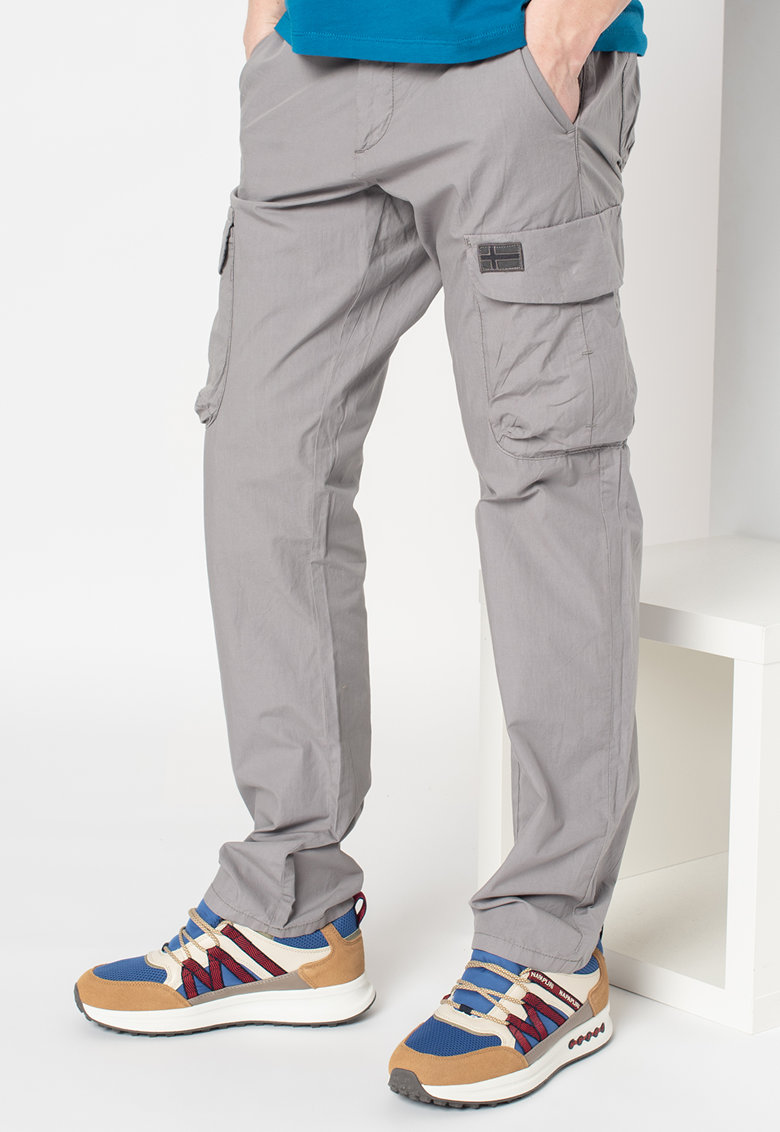 Pantaloni cargo cu talie medie Mori