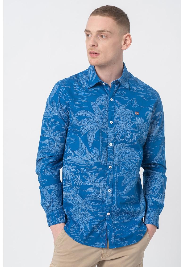 Camasa slim fit cu imprimeu tropical Gesin imagine fashiondays.ro 2021